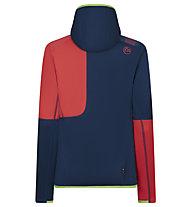 La Sportiva Granite Hoody - Fleecejacke mit Kapuze - Damen, Blue/Red