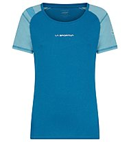 La Sportiva Hynoa T-Shirt - T-shirt trail running - donna, Blue/Light Blue
