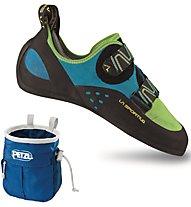 La Sportiva Katana Scarpetta arrampicata, Green/Blue