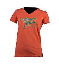 La Sportiva LaspoDiva T-shirt arrampicata donna, Coral