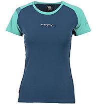 La Sportiva Move - T-shirt trail running - donna, Blue/Light Blue
