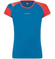 La Sportiva Move - Trailrunning T-Shirt - Damen, Light Blue/Red