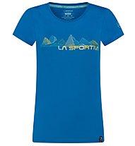 La Sportiva Peaks - T-shirt arrampicata - donna, Blue