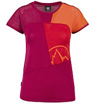 La Sportiva Push - T-Shirt Klettern - Damen, Red/Orange