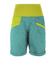 La Sportiva Ramp Short Damen Kletter- und Wanderhose kurz, Blue/Green