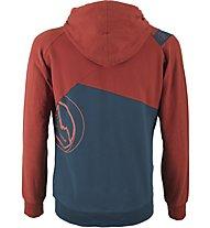 La Sportiva Rocklands Hoody M - Kletter- und Boulder Kapuzenjacke Herren, Blue/Red