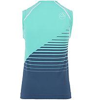 La Sportiva Runner Tank - top running - donna, Blue/Light Blue