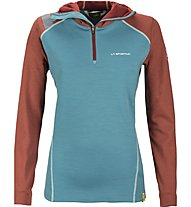 La Sportiva Saturn Hoody Damen Tourenpullover mit Kapuze, Light Blue