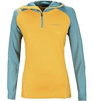La Sportiva Saturn - Felpa con cappuccio scialpinismo - donna, Yellow