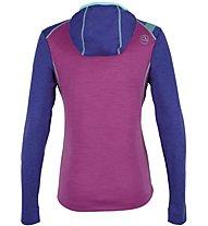 La Sportiva Saturn - felpa con cappuccio sci alpinismo - donna, Pink/Violet