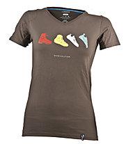 La Sportiva Shoevolution - T-Shirt arrampicata - donna, Brown