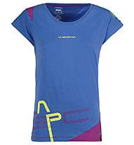 La Sportiva Shortener - T-Shirt montagna - donna, Blue