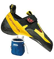 La Sportiva Skwama - Herren Kletter- und Boulderschuh, Black/Yellow