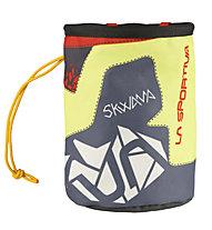 La Sportiva Skwama Chalk Bag - Magnesiumbeutel, Grey/Yellow