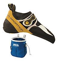 La Sportiva Solution Scarpette da arrampicata, White/Yellow