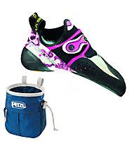 La Sportiva Solution - scarpetta arrampicata donna, White/Pink