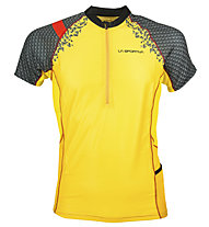 La Sportiva Sonic Trail Running T-Shirt, Black/Yellow