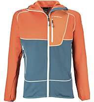 La Sportiva Source Hoody Herren Fleecejacke mit Kapuze., Orange/Blue