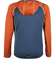 La Sportiva Source - giacca con cappuccio alpinismo - uomo, Blue/Orange