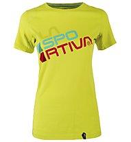 La Sportiva Square T-Shirt Damen Wander- und Klettershirt kurz, Green