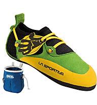La Sportiva Stickit - scarpette da arrampicata - bambino, Green/Yellow