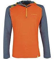 La Sportiva Stratosphere - Langarm-Shirt mit Kapuze Skitouren - Herren, Orange