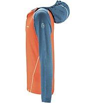 La Sportiva Stratosphere - Langarm-Shirt mit Kapuze Skitouren - Herren, Blue/Orange
