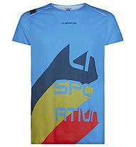 La Sportiva Stream - Trailrunnungshirt - Herren, Light Blue/Blue/Green