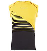 La Sportiva Stream Tank M - Lauftop - Herren, Black/Yellow