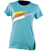 La Sportiva Stripe Logo - Klettershirt - Damen, Blue