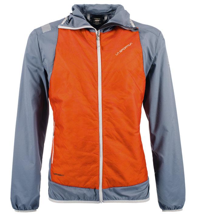 La Sportiva Task - Hybridjacke mit Kapuze - Herren, Grey/Orange