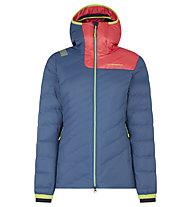 La Sportiva Tempest Down - giacca in piuma - donna, Blue/Pink/Yellow