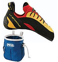 La Sportiva Testarossa Scarpette arrampicata uomo, Red/Yellow