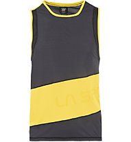La Sportiva Track Tank - Runningtop - Herren, Black/Yellow