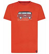 La Sportiva Van T-Shirt Herren Klettershirt kurz, Red