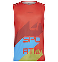 La Sportiva Vert - Trailrunningshirt ärmellos - Herren, Red/Light Blue/Green