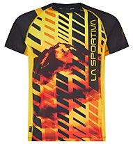La Sportiva Wave - maglia trail running - uomo, Black/Yellow