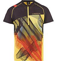 La Sportiva Xcelerator - Trailrunning T-Shirt - Herren, Black/Yellow