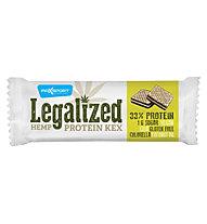 Max Sport Legalized Hemp Protein Kex Hanf Energieriegel, White/Green