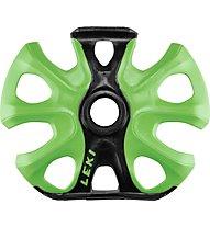 Leki Big Mountain Binding Basket - rotella per bastoncino da scialpinismo, Black/Green