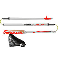 Leki Micro trail - bastoncini trailrunning, White/Red