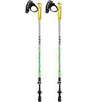 Leki Walker XS - Nordic-Walking-Stock, Light Grey/Yellow