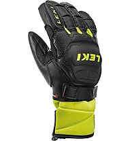 Leki Worldcup Race Flex S Junior - guanti da sci - bambino, Black/Yellow
