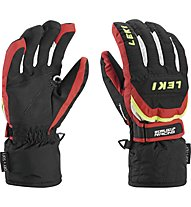 Leki Guanti sci Worldcup S Junior, Black/Red/White/Yellow