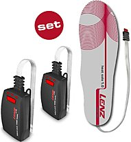 Lenz Heatsole 1.0 + Lithiumpack Insole 1200 - Wärmeelement Sohle, White/Red/Black