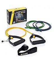 Letsbands Powerbands Set Tube - set elastici fitness, Black