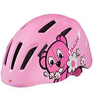 Limar 224 superlight casco bici bambino, Pink Teddy Bear