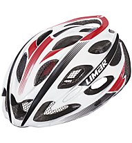 Limar Ultralight+ Road Rennradhelm, White/Black/Red