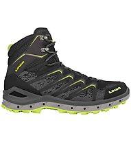 Lowa Aerox GTX Mid - scarpe da trekking - uomo, Black/Yellow