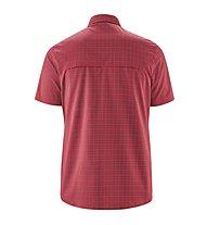 Maier Sports Mats - camicia maniche corte trekking - uomo, Red/Grey